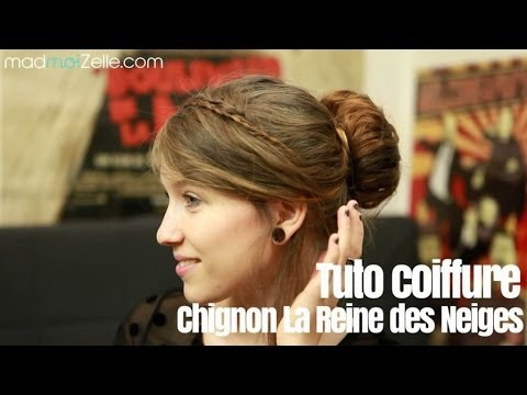 tuto coiffure chignon de f tes fa on la reine des neiges youtube. Black Bedroom Furniture Sets. Home Design Ideas