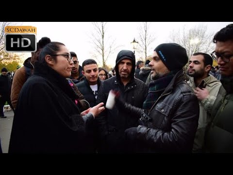 P4 - Many Questions! Hashim vs Christian Lady   Speakers Corner   Hyde Park