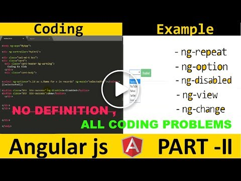 [Hindi] Angular js directives | angular js tutorial Part 2| codingkakida thumbnail