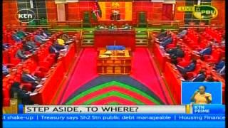 President Uhuru Kenyatta insists that those named in corruption scandals should step aside