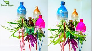 Indoor Hanging Water Garden Forest from Recycled Materials /Indoor Water Plants Garden//GREEN PLANTS
