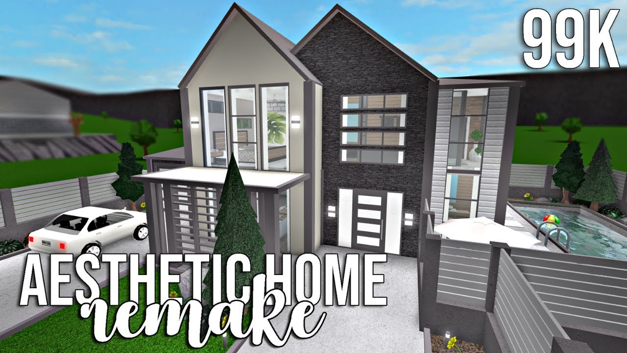 Bloxburg Aesthetic Home Remake 99k - roblox bloxburg modern family home 99k