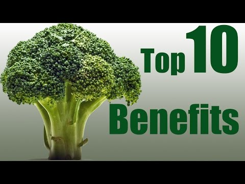 Top 10 health benefits of broccolli