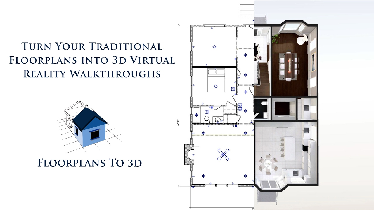Turn your 2d floorplans into 3d virtual reality for Virtual home walkthrough