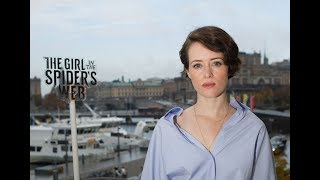 "Claire Foy on playing Lisbeth Salander: ""Swedish people speak better English than I do"""