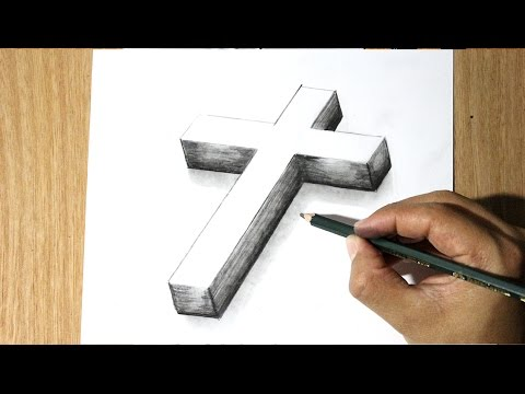 Como Dibujar una Cruz - How to Draw a cross - Como Dibujar a Jesus ...