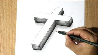 Como Dibujar una Cruz -  How to Draw a cross - Como Dibujar a Jesus