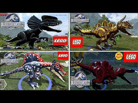 New lego Darth Vader Hybrid Indominus Rex Jurassic World Game Custom Dinosaurs  Spinosaurus