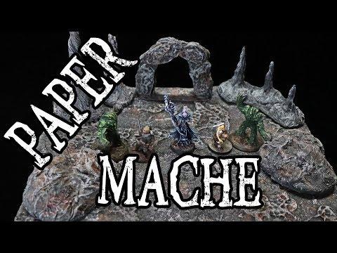 Dungeons and Dragons Paper Mache (Papier-mâché) Terrain Craft Tutorial (DM's Craft #199)