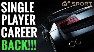Gran Turismo Sport || Single Player Career COMING BACK!!!!