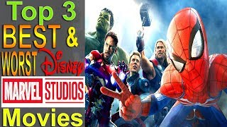 Top 3 Worst & Best Cinematic Marvel Movies