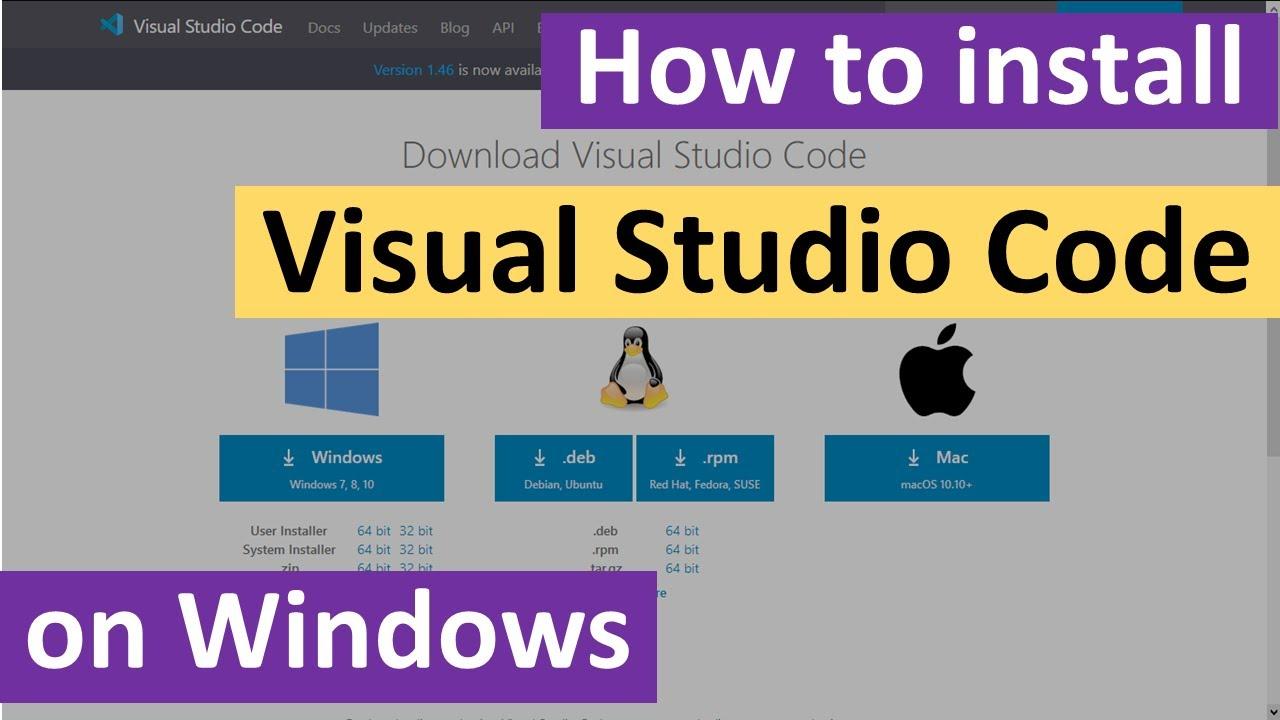 How to install Visual Studio Code on Windows