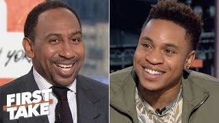Rotimi talks Power season 6, NFL predictions and the greatest Giants player of all time | First Take
