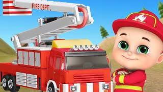 Gambar cover Super Firefighter Rescue Team | Police Car, Ambulance | Nursery Rhymes | Kids Songs | Jugnu kids