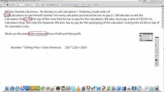 Business - Sales Revenue, Gross Profit and Net Profit