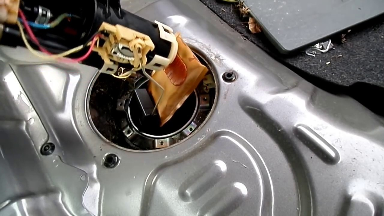 Honda    Accord    Fuel Pump Removal Sending Unit Testing  YouTube