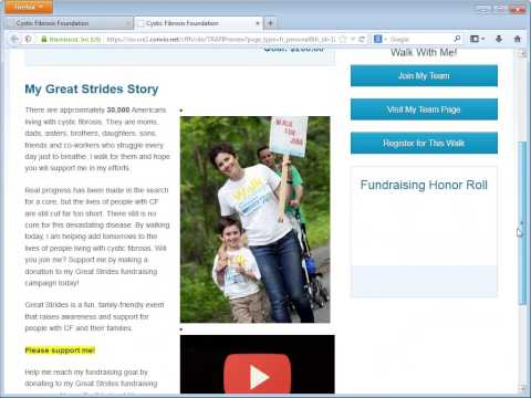 Great Strides Personal Page