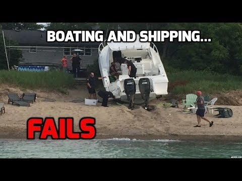 Boating and shipping fails (compilation) Cazy moments on the water!