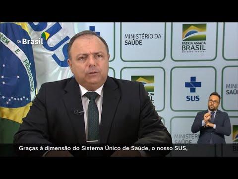Pronunciamento do ministro da Saúde, Eduardo Pazuello