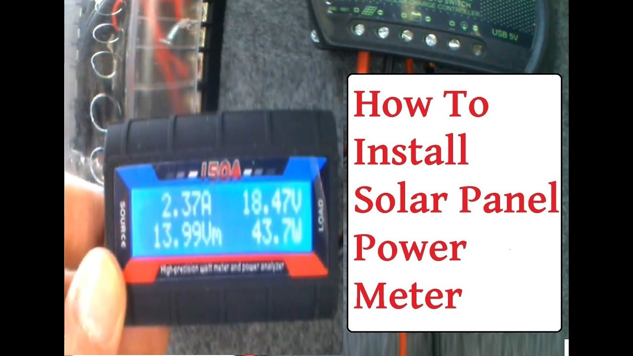 small resolution of wiring solar panel watt meter monitor solar panel power output watts amps