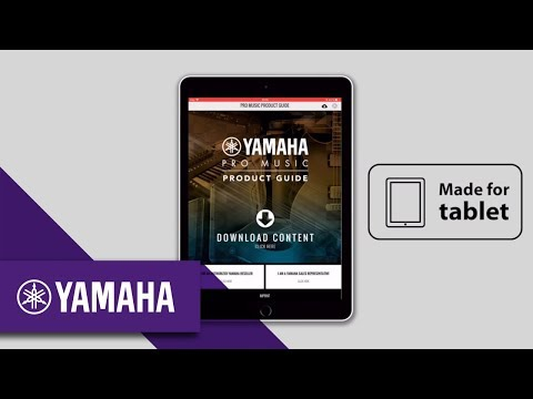 Yamaha Pro Music Releases Brand-new Pro Music Product Guide App