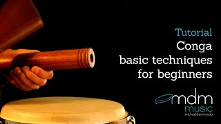 Conga basic technics for beginners by Michael de Miranda