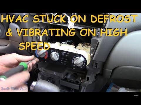 Nissan Sentra : Stuck On Defrost / Vibrating Heater Fan