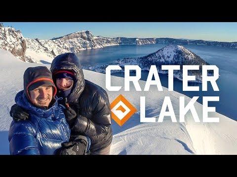 Snow Camping Oregon - Crater Lake