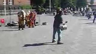 Drunk man Dancing to Indian Pipe Music
