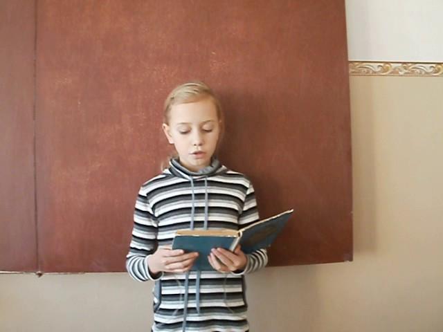 Изображение предпросмотра прочтения – ШамуринаКристина читает произведение «Бородино» М.Ю.Лермонтова