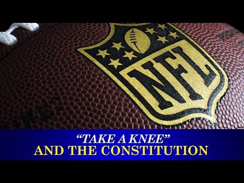 Is the NFL violating the first amendment by preventing players from kneeling during the anthem?