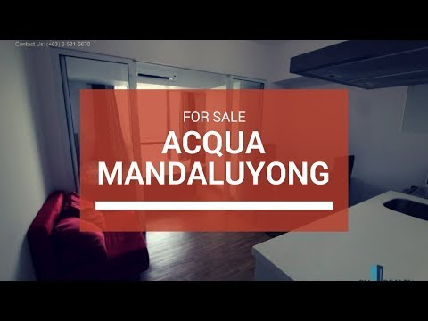 Acqua Private Residences Condo in Mandaluyong for Sale 7.7M