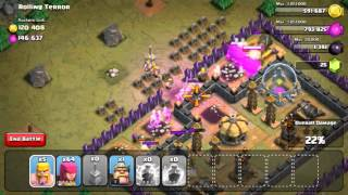 Clash of clans barching single player maps- rolling terror!