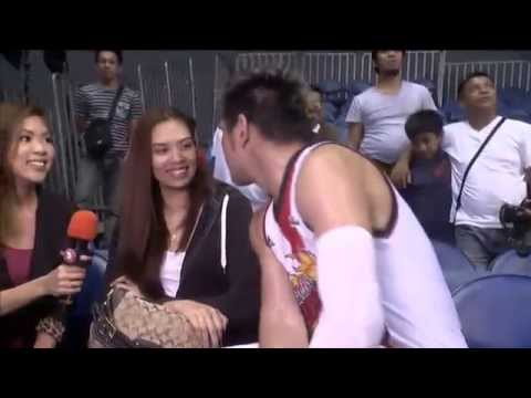 SPORTS 5 SPECIAL: June Mar Fajardo kissing his girlfriend