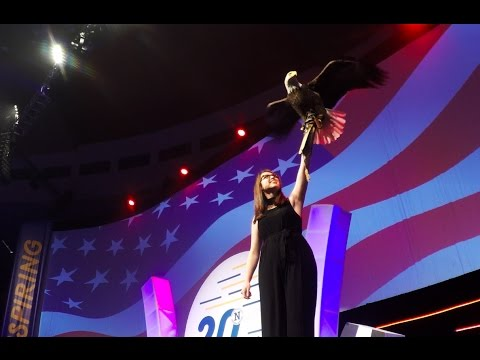 Anthem Singer Catches Bald Eagle!