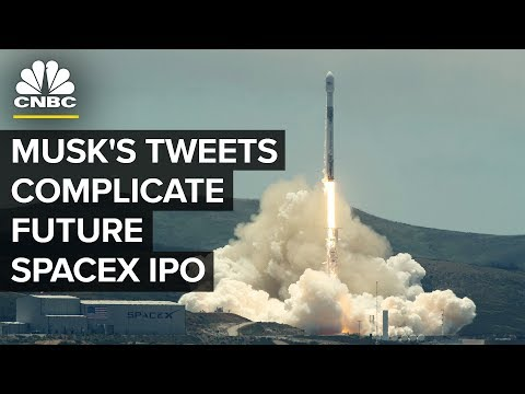 Elon Musk Taking Tesla Private Complicates Potential SpaceX IPO | CNBC