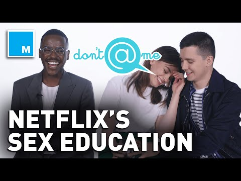 """The Cast of 'Sex Education' Plays """"Don't @ Me"""" 