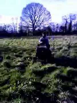 Minder on a Tractor