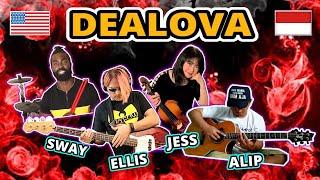 Dealova (Once) Cover - Alip Ba Ta, Jess Mancuso, Ellis Lamar, Swaylex - Indonesia & USA Collab