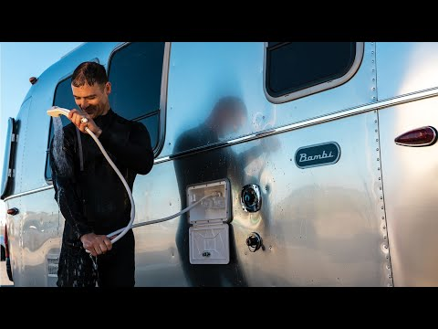 first-look-2020-airstream-bambi-22fb-small-light-weight-travel-trailer-walk-through