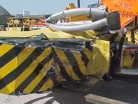Scorpion Truck Mounted Attenuator Impact Video Youtube