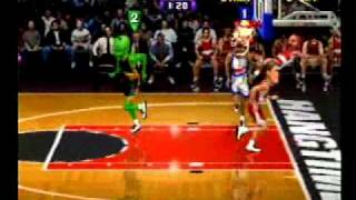 NBA Hangtime Triple dunk and win by 100?