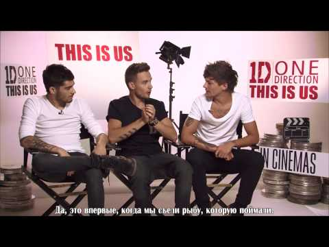 When One Direction Met Zoella!   'This Is Us' movie premiere interview! [RusSub]