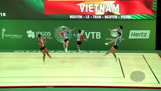 Vietnam (VIE) - 2018 Aerobic Worlds, Guimaraes (POR) - Group Qualifications