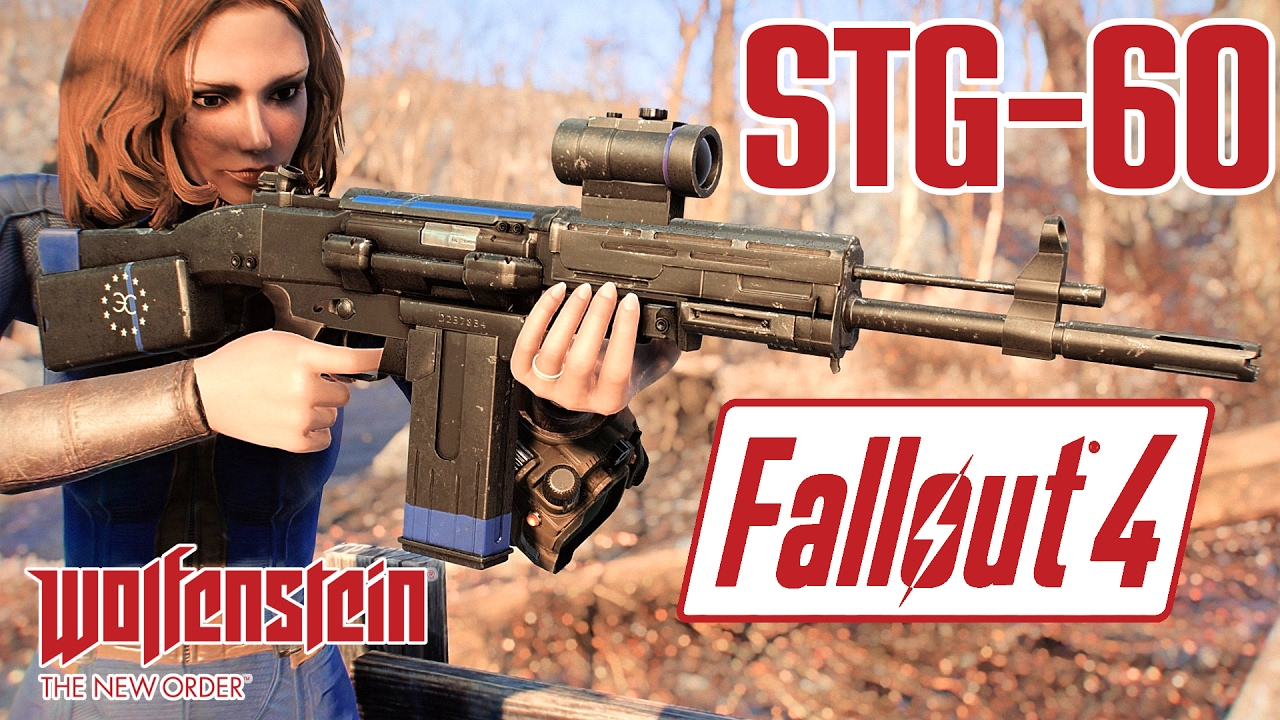 Fallout 4 - STG-60 from Wolfenstein: The New Order - Assault Rifle Weapon  Mod Showcase