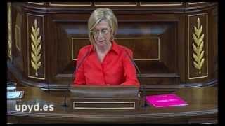 """Rosa Díez a Gallardón: """"En aforados, España gana a Alemania 10.000 a cero"""""""