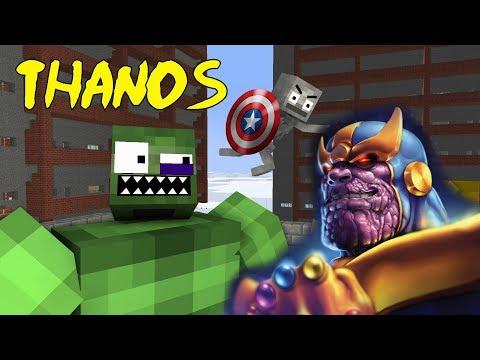 Monster School : AVENGERS VS THANOS CHALLENGE - Minecraft Animation