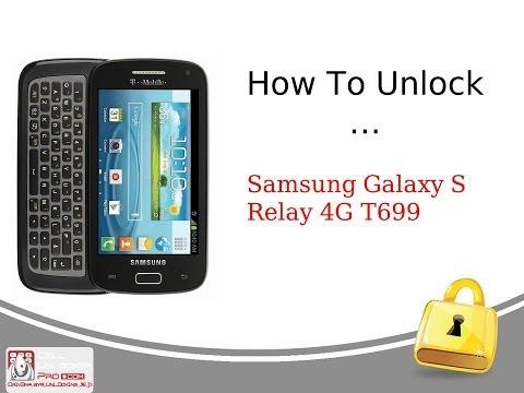 How To Unlock Samsung Galaxy S Relay 4G T699 / Tutorial by Cellunlockerpro