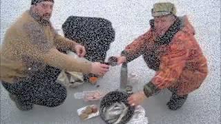 Рыбалка на Кубани. Лов тарани  на Ейском лимане. Январь 2015.