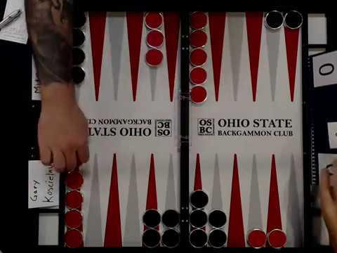 Ohio Backgammon 2017 - Advanced Final - Gary Koscielny v Mike Clapsadle